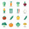 Stock Image : Vegetables icons