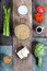 Stock Image : Vegetables and soy products