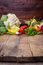 Stock Image : Vegetables on wooden table