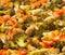 Stock Image : Vegetarian food, baked  vegetables