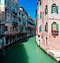 Stock Image : Venice canal with houses standing in water