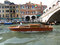 Stock Image : Venice Water Taxi at the Bridge