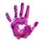 Stock Image :  Verfdruk van menselijke hand