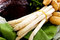 Stock Image : Verse groenten, bos van witte asperge