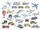 Stock Image :  Vervoer meer dan de reeks van de wereldkleur
