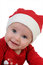 Stock Image : Very happy little girl in Santa Claus day