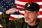 Stock Image : Veteran Salutes