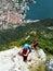 Stock Image : Via Ferrata / Klettersteig climbing