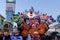 Stock Image : VIAREGGIO, ITALY - February 7:   parade of allegorical chariot a