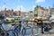 Stock Image : View of Amsterdam bridge