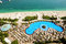 Stock Image : View on beach at Jumeirah Palm man-made island