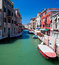 Stock Image : View of beautiful colored venice canal