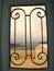 Stock Image : View to the sea through iron gate