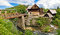 Stock Image : Village of Rastoke river canyon