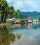 Stock Image : Village on the water