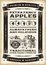 Stock Image : Vintage apple harvest poster