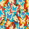 Stock Image : Vintage background seamless pattern with colorful butterflies