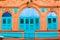 Stock Image : Vintage blue window