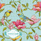 Stock Image : Vintage Card - Flowers and  Birds