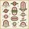 Stock Image : Vintage cherry labels set