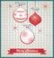 Stock Image : Vintage christmas card
