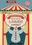 Stock Image : Vintage circus birthday invitation