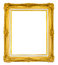 Stock Image : Vintage golden picture frame