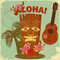 Stock Image : Vintage Hawaiian postcard