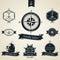 Stock Image : Vintage Nautical Badge set
