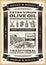Stock Image : Vintage olive oil poster