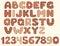 Stock Image : Vintage patchwork alphabet