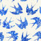 vintage pattern with little swallows, seamless pattern with bird