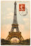 Stock Image : Vintage postcard with Eiffel Tower in Paris