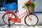 Stock Image : Vintage red bicycle