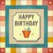 Stock Image : Vintage retro happy birthday card