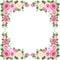 Stock Image : Vintage roses frame. Vector illustration.
