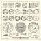 Stock Image : Vintage Stamps Set