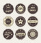 Stock Image : Vintage style retro emblem label collection