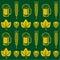 Stock Image : Beer Seamless Pattern