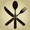 Stock Image : Vintage styled knife, fork and spoon / Restaurant