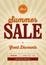 Stock Image : Vintage Summer Sale Design