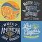 Stock Image : Vintage T-shirt Graphic Set 1