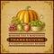 Stock Image : Vintage Thanksgiving Card