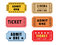 Stock Image : Vintage Theatre Tickets