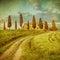 Stock Image : Vintage tuscan landscape