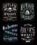 Stock Image : Vintage Whiskey Label T-shirt Graphic Set