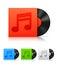 Stock Image : Vinyl records.