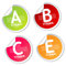 Stock Image : Vitamin A, B, C and E stickers