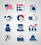 Stock Image : Voting and elections paper cut icons