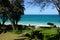 Stock Image : Waimanalo Beach with Paths leading to beach